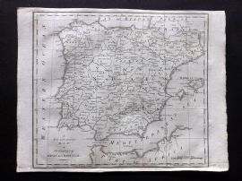 John Cary 1801 A New and Accurate Map of the Kingdom of Spain and Portugal